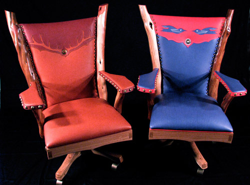 Two Chairs built by Eric Shell